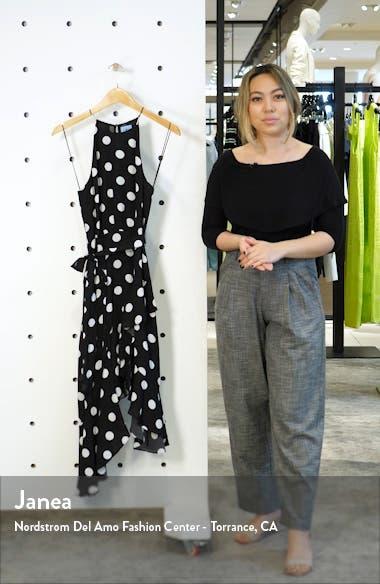 Dappled Dot Cascade Ruffle Sleeveless Dress, sales video thumbnail