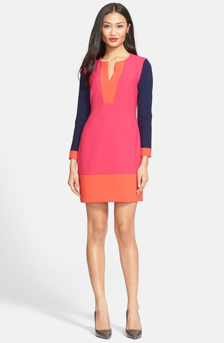 DIANE VON FURSTENBERG 'Millie' Colorblock Sheath Dress, Main, color, 673