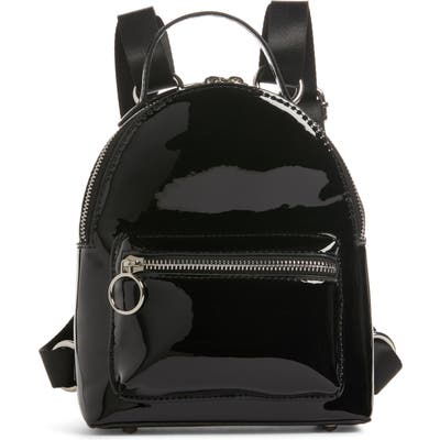 Bp. X Claudia Sulewski Faux Patent Leather Mini Backpack - Black