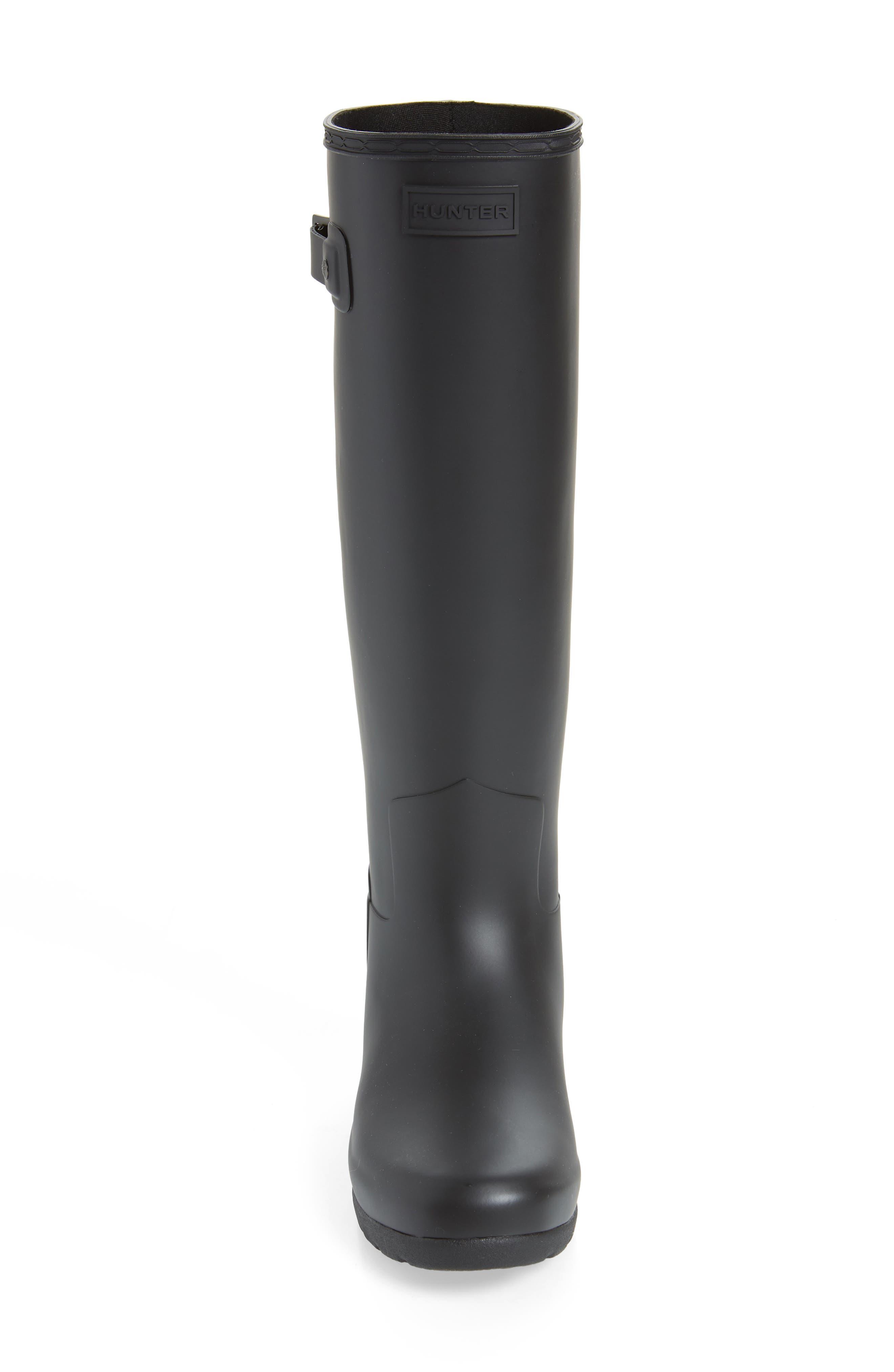 ,                             Original Refined Waterproof Rain Boot,                             Alternate thumbnail 4, color,                             BLACK