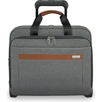 Briggs & Riley Medium Kinzie Street Rfid Pocket Expandable Rolling Laptop Briefcase - Grey