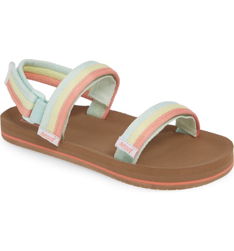 REEF Little Ahi Convertible Sandal, Main, color, RAINBOW