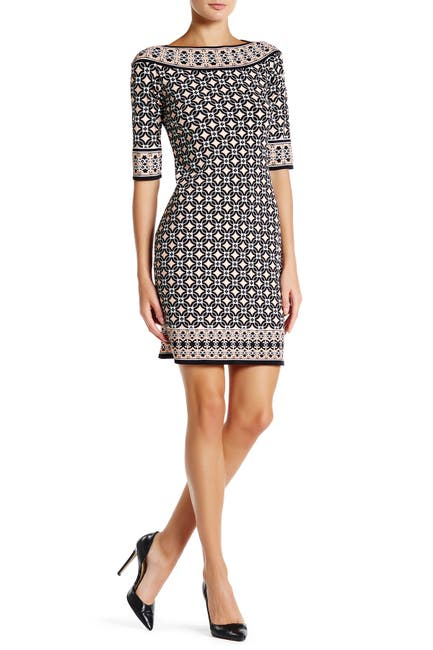 Image of Max Studio Mixed Print Sheath Dress