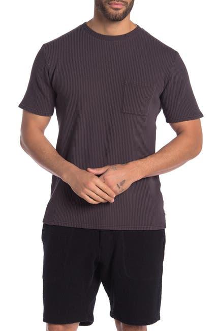 Image of SATURDAYS NYC Randall Ribbed Knit Pocket T-Shirt
