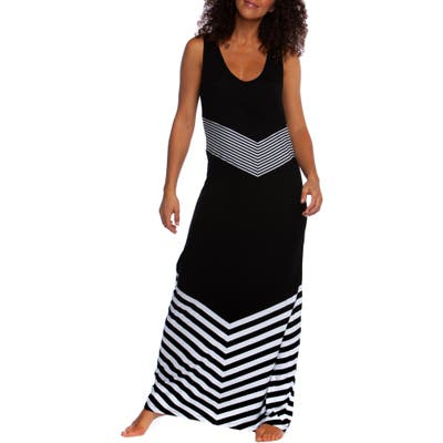 La Blanca Fine Line Cover Up Maxi Dress, Black