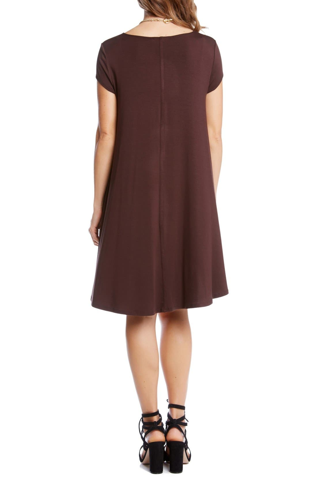 ,                             'Maggie' Cap Sleeve Trapeze Dress,                             Alternate thumbnail 9, color,                             201