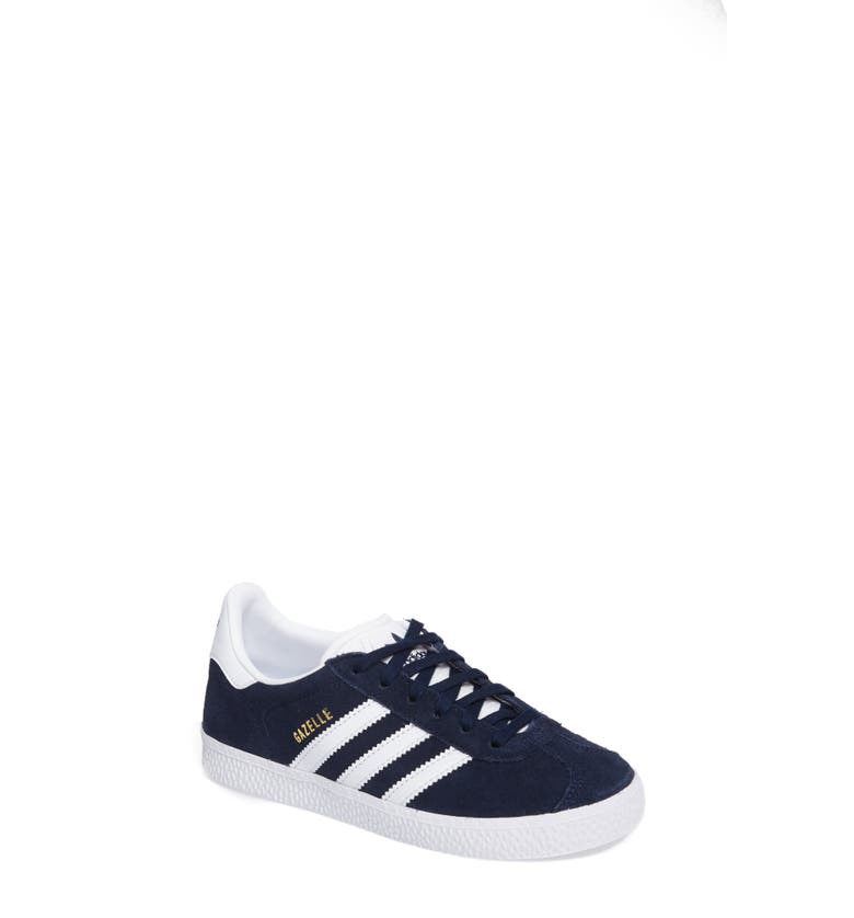 ADIDAS Gazelle Sneaker, Main, color, COLLEGIATE NAVY/ WHITE