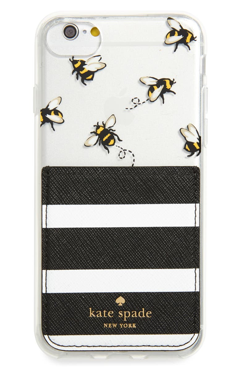 KATE SPADE NEW YORK stick to it iPhone 7/8 & iPhone 7/8 Plus case & sticker pocket set, Main, color, 001