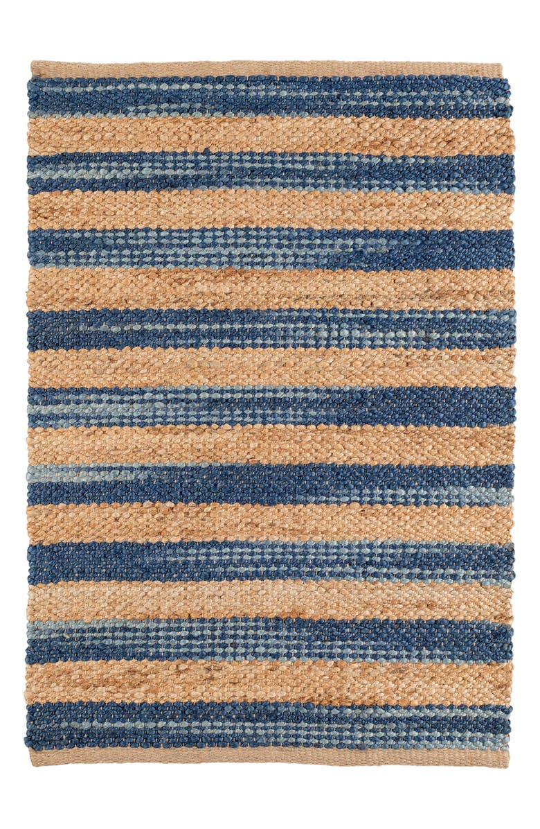 DASH & ALBERT Corfu Woven Wool Rug, Main, color, BLUE