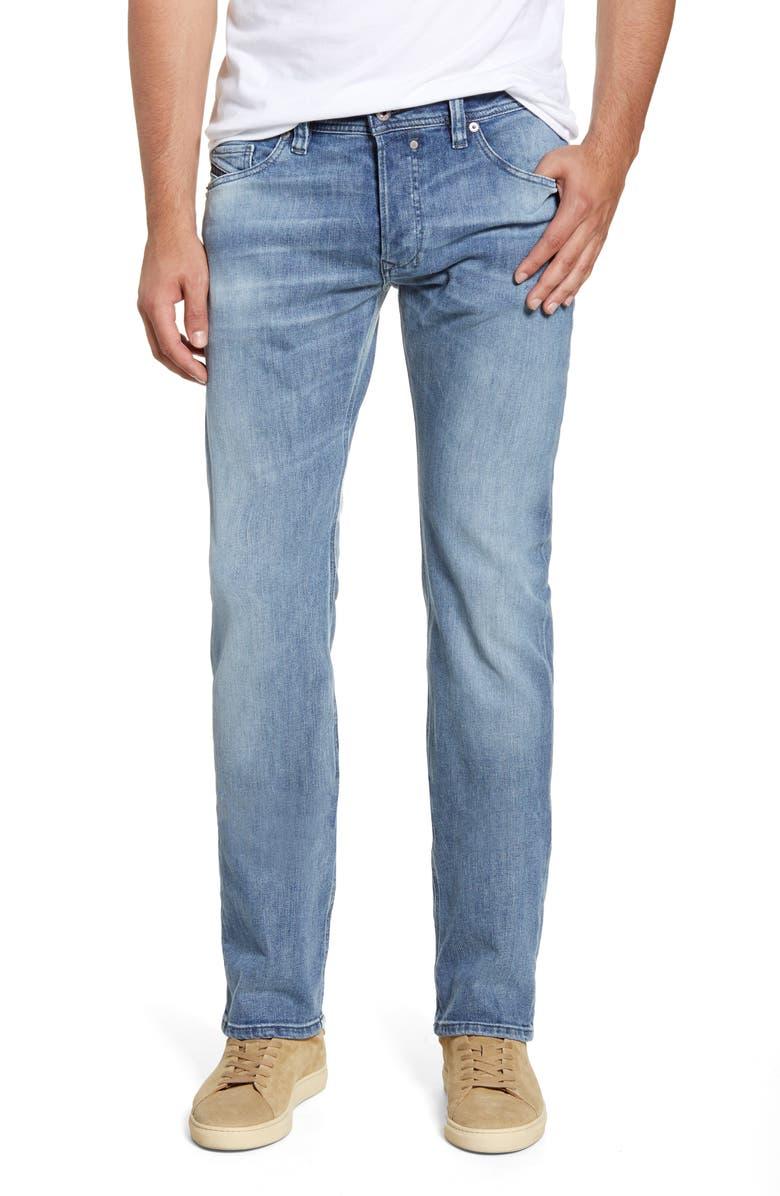 DIESEL<SUP>®</SUP> Safado Slim Straight Leg Jeans, Main, color, LIGHT BLUE