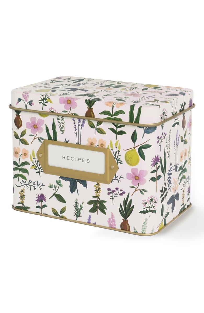 RIFLE PAPER CO. Herb Garden Recipe Tin, Main, color, 500
