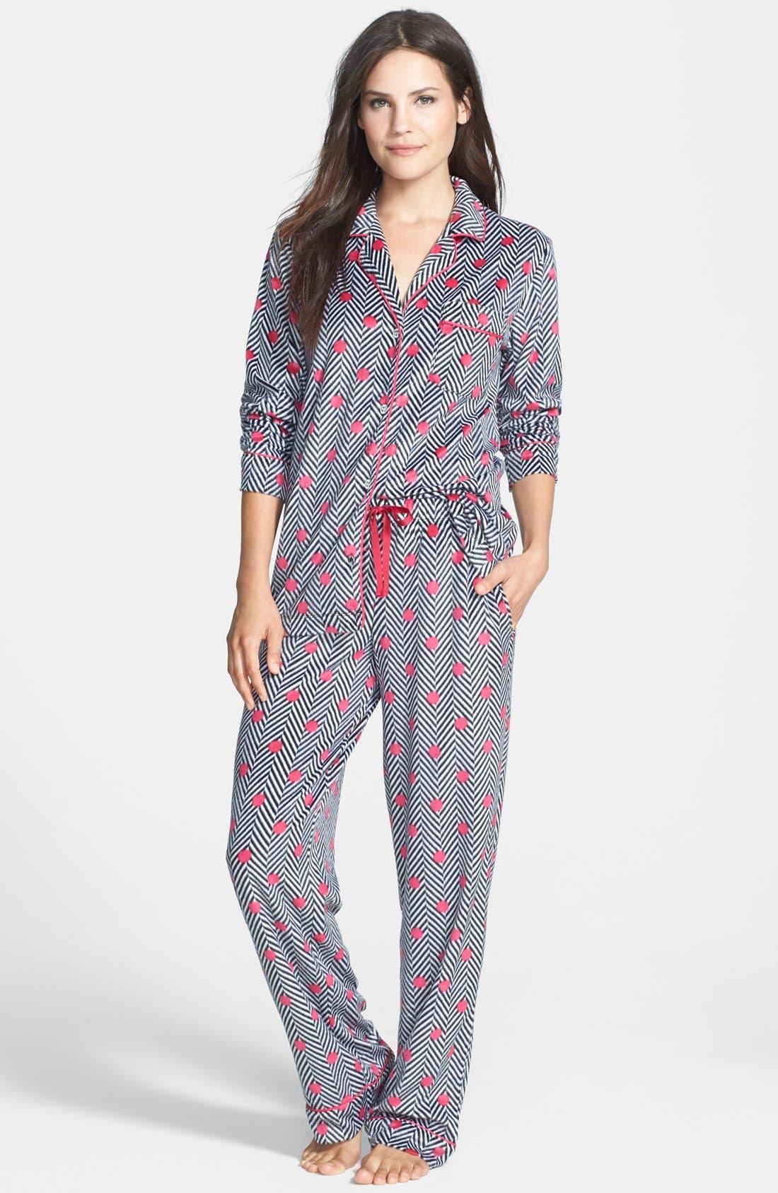 ,                             Long Sleeve Microfleece Pajamas,                             Alternate thumbnail 9, color,                             002