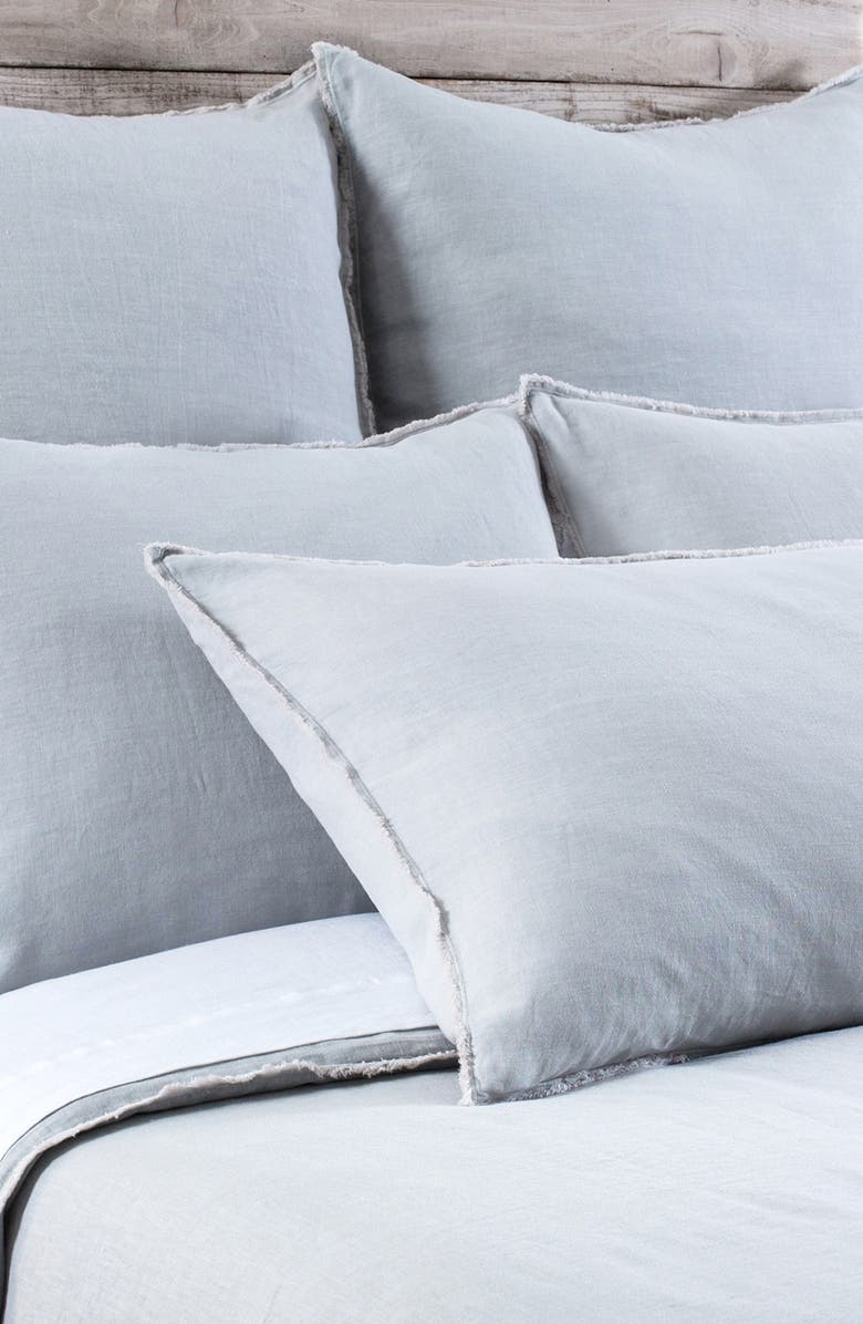 POM POM AT HOME 'Blair' Linen Duvet Cover, Main, color, OCEAN