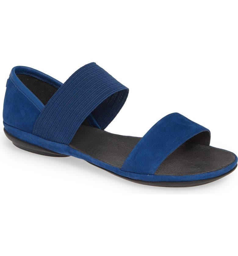 CAMPER 'Right Nina' Sandal, Main, color, MEDIUM BLUE LEATHER
