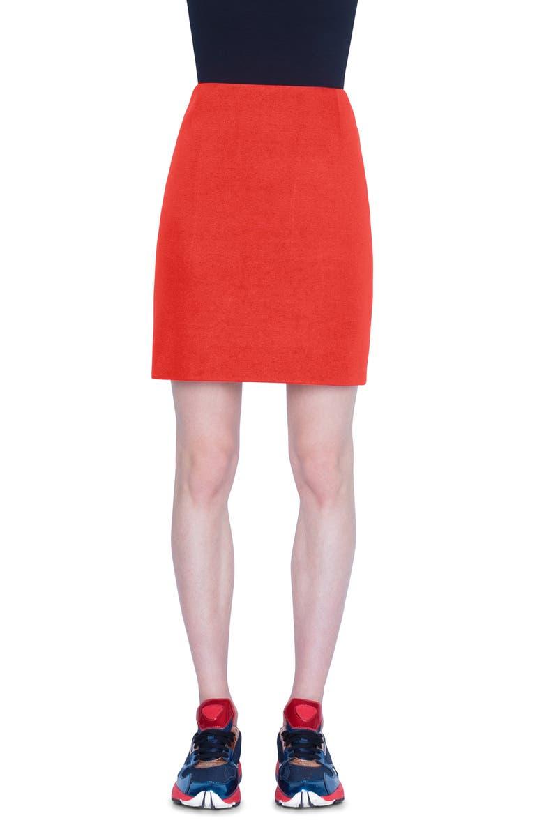 AKRIS PUNTO Two-Tone Jersey Miniskirt, Main, color, 600