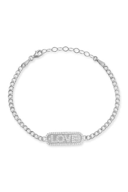Image of Sphera Milano Sterling Silver Love Bracelet