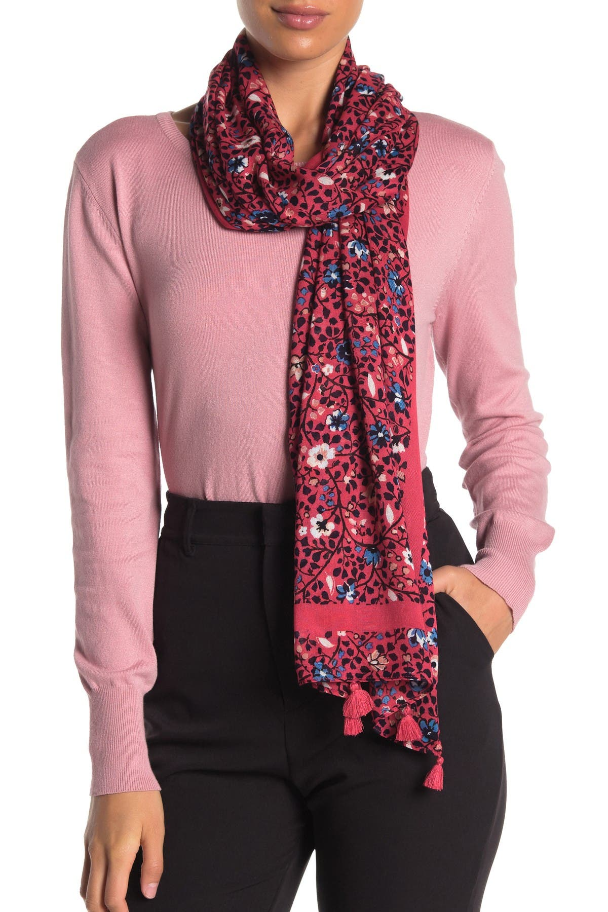 Image of kate spade new york ditsy vine oblong scarf