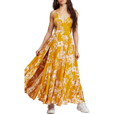 Free People Lille Print Maxi Dress, Yellow