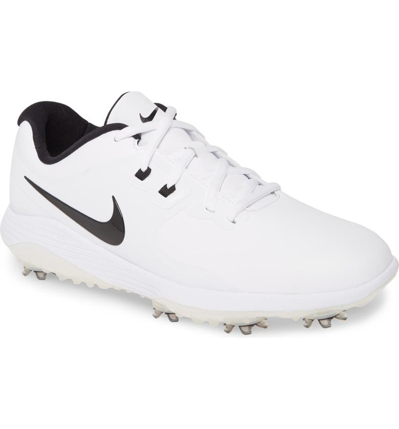 NIKE Vapor Pro Waterproof Golf Shoe, Main, color, WHITE/ BLACK