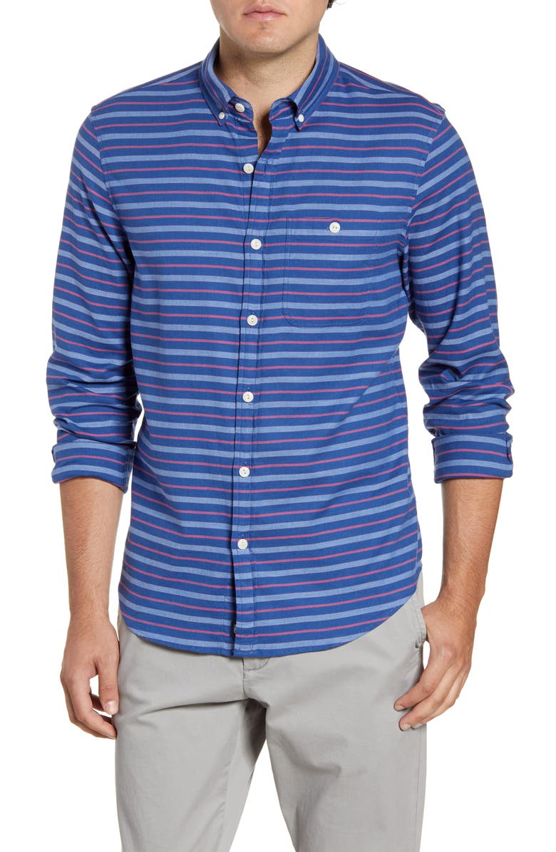 VINEYARD VINES Beach Flannel Slim Fit Stripe Button-Down Shirt, Main, color, 461