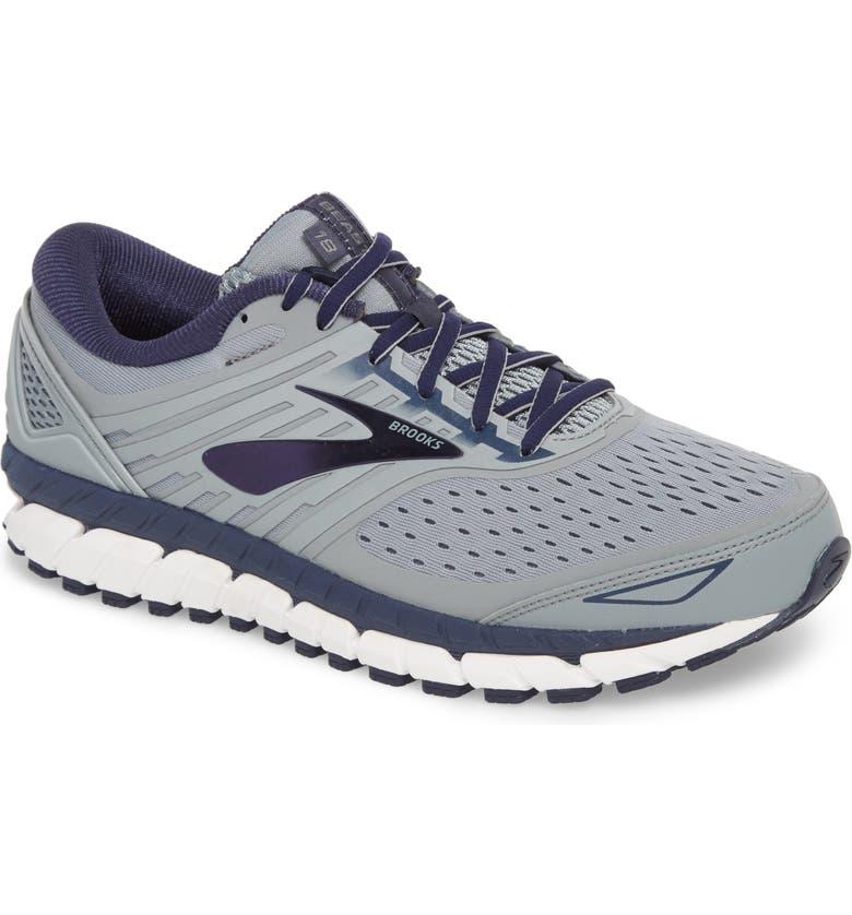 BROOKS Beast '18 Running Shoe, Main, color, GREY/ NAVY/ WHITE