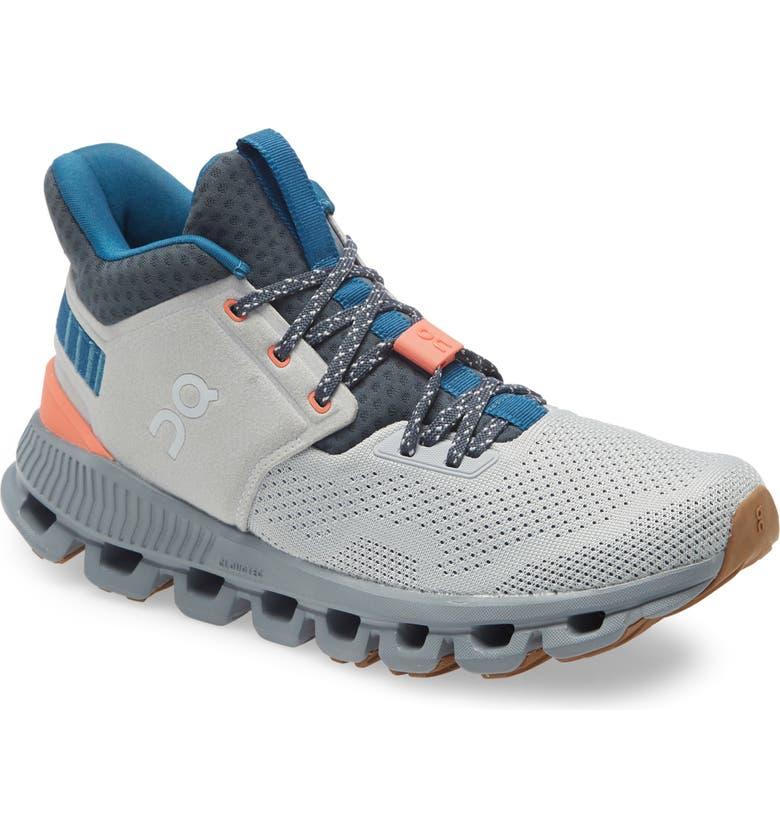 ON Cloud Hi Edge Sneaker, Main, color, GLACIER/ SHADOW