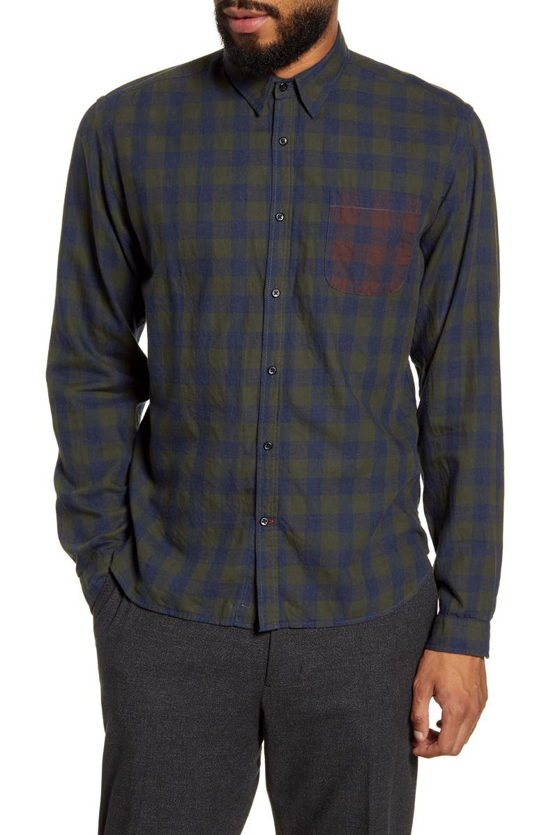 OLIVER SPENCER New York Special Slim Fit Check Button-Up Shirt, Main, color, 309