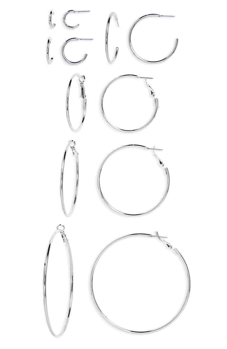 BP. 6-Pack Hoop Earrings, Main, color, 040