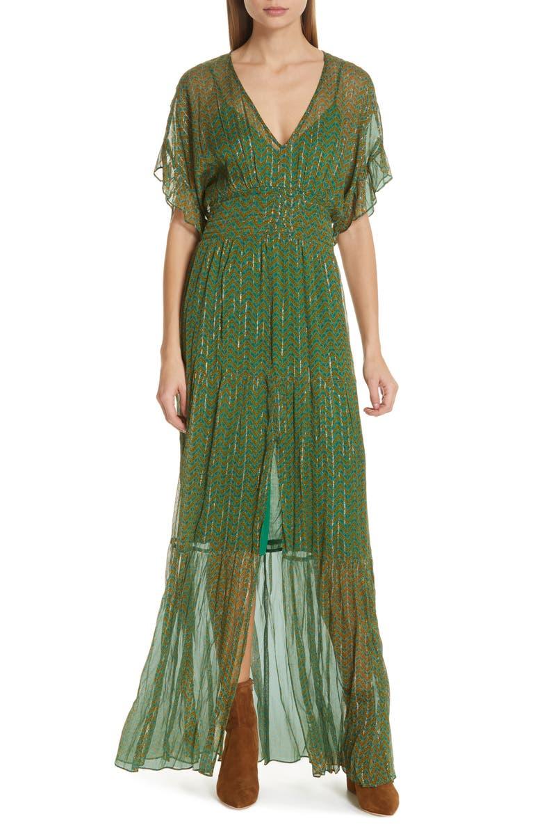 Wanda Metallic Accent Maxi Dress by Ba&Sh