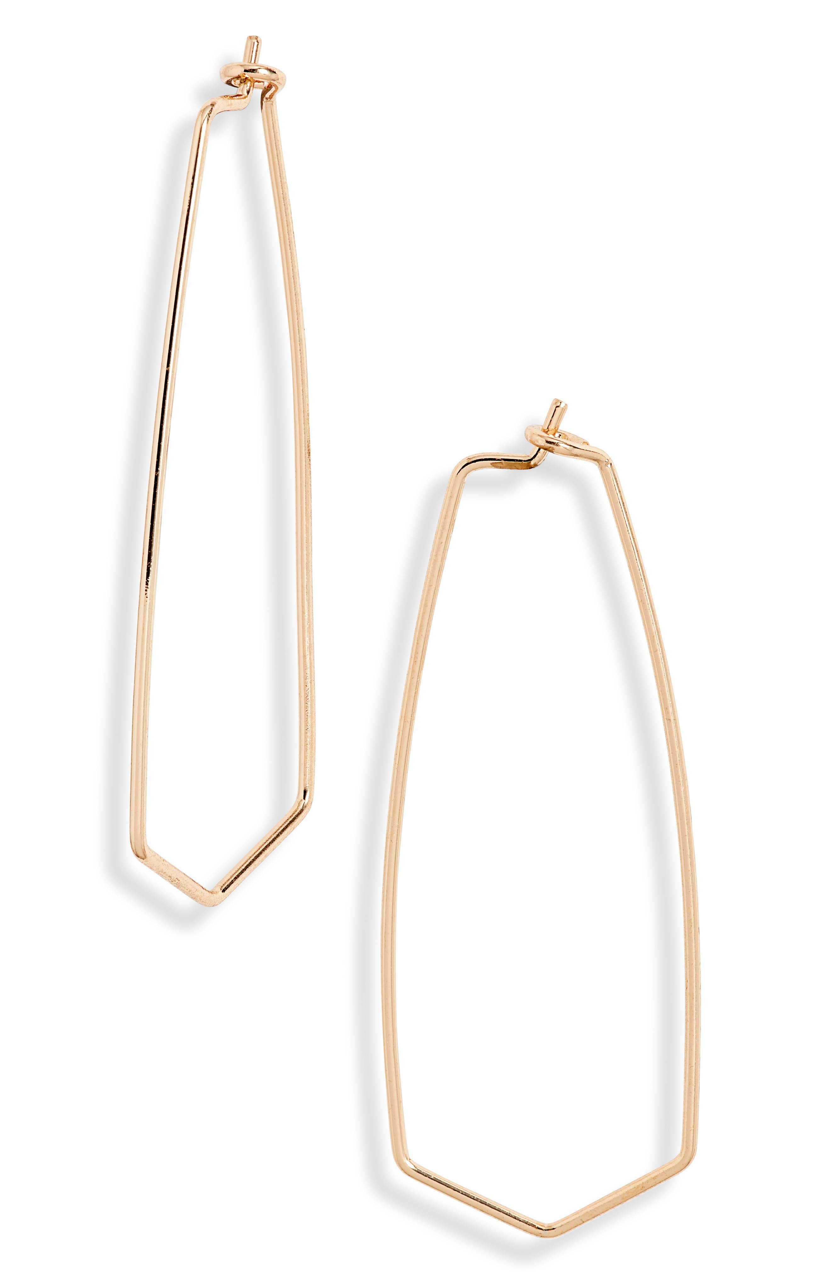 Wear these hoops often: they\\\'re elegant proof that geometry rules. Style Name: Bp. Polygon Hoop Earrings. Style Number: 6069228. Available in stores.