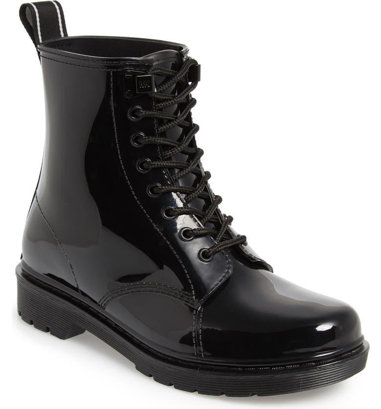 MICHAEL MICHAEL KORS Tavie Rain Boot, Main, color, 001