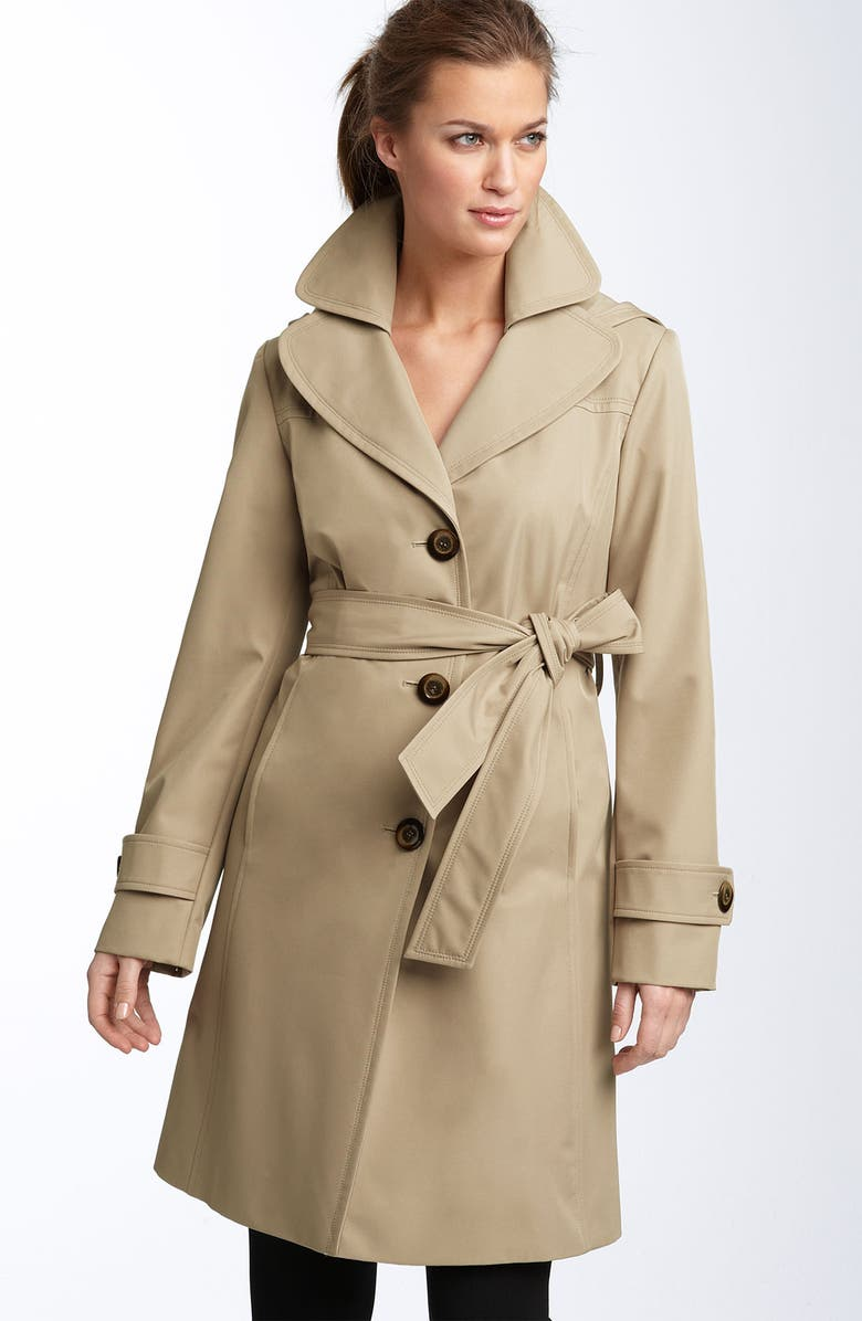 COLLECTION ELLEN TRACY Short Hooded Trench, Main, color, 211