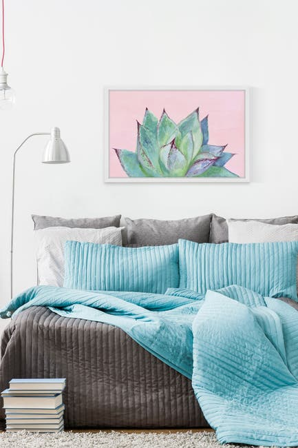 "Image of Marmont Hill Inc. Agave Profile III Framed Painting Print - 45"" x 30"""