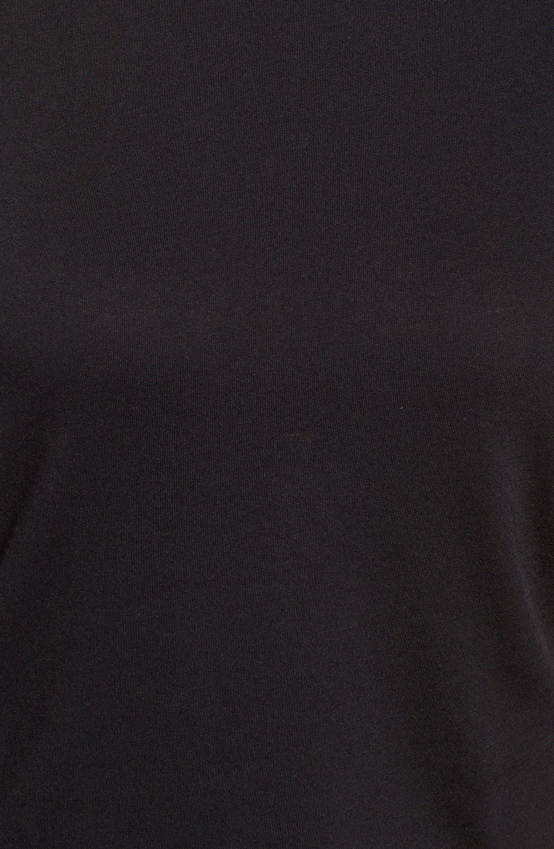 ,                             Short Sleeve Crewneck Tee,                             Alternate thumbnail 2, color,                             BLACK