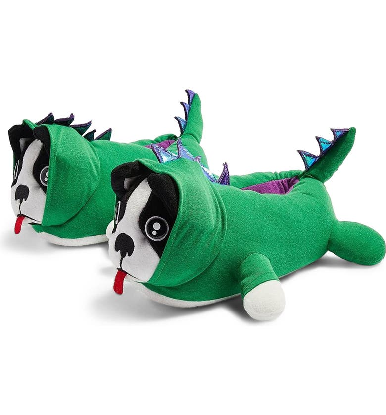 TOPSHOP Dino Dog Slippers, Main, color, 300