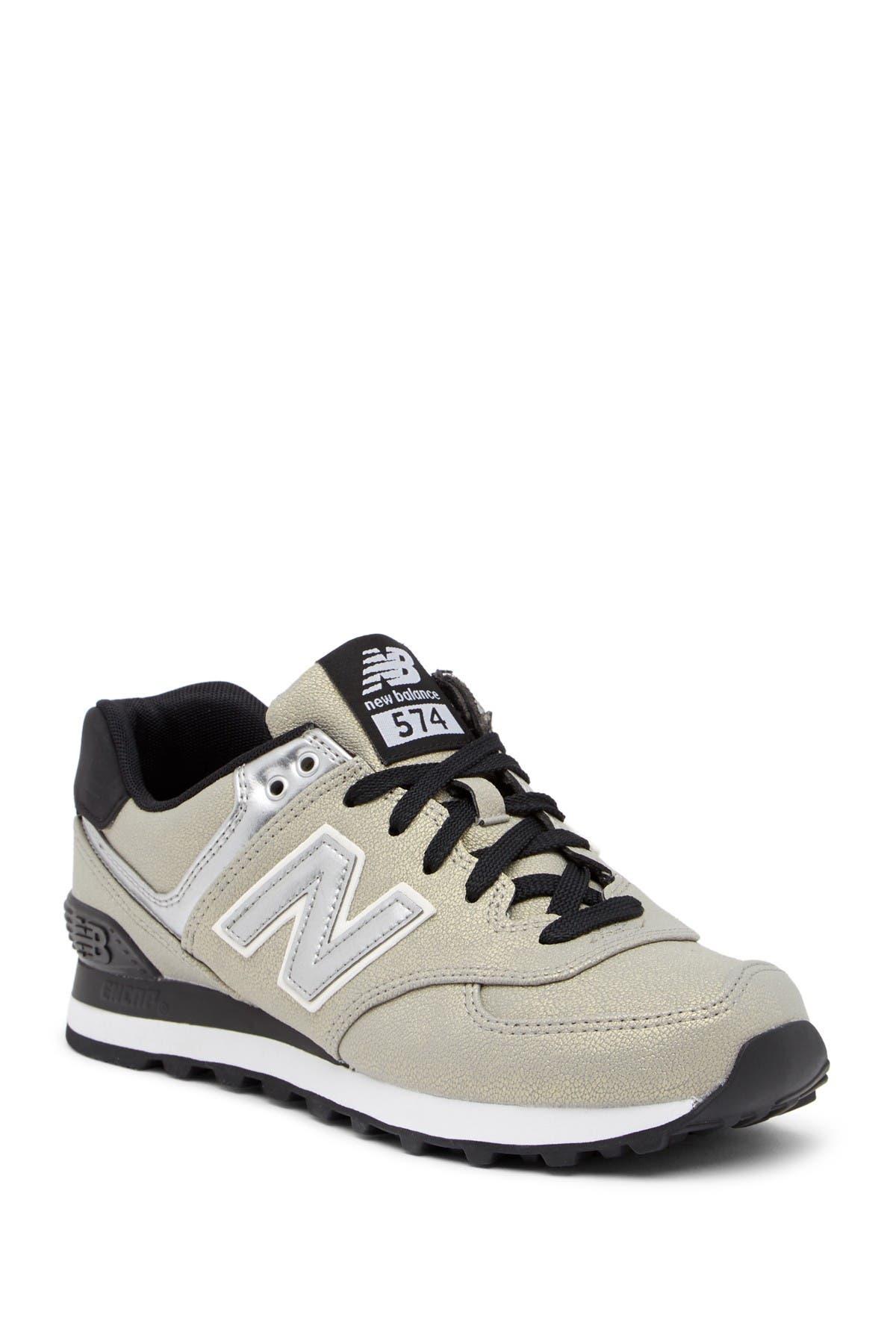 574 Seasonal Shimmer Suede Sneaker