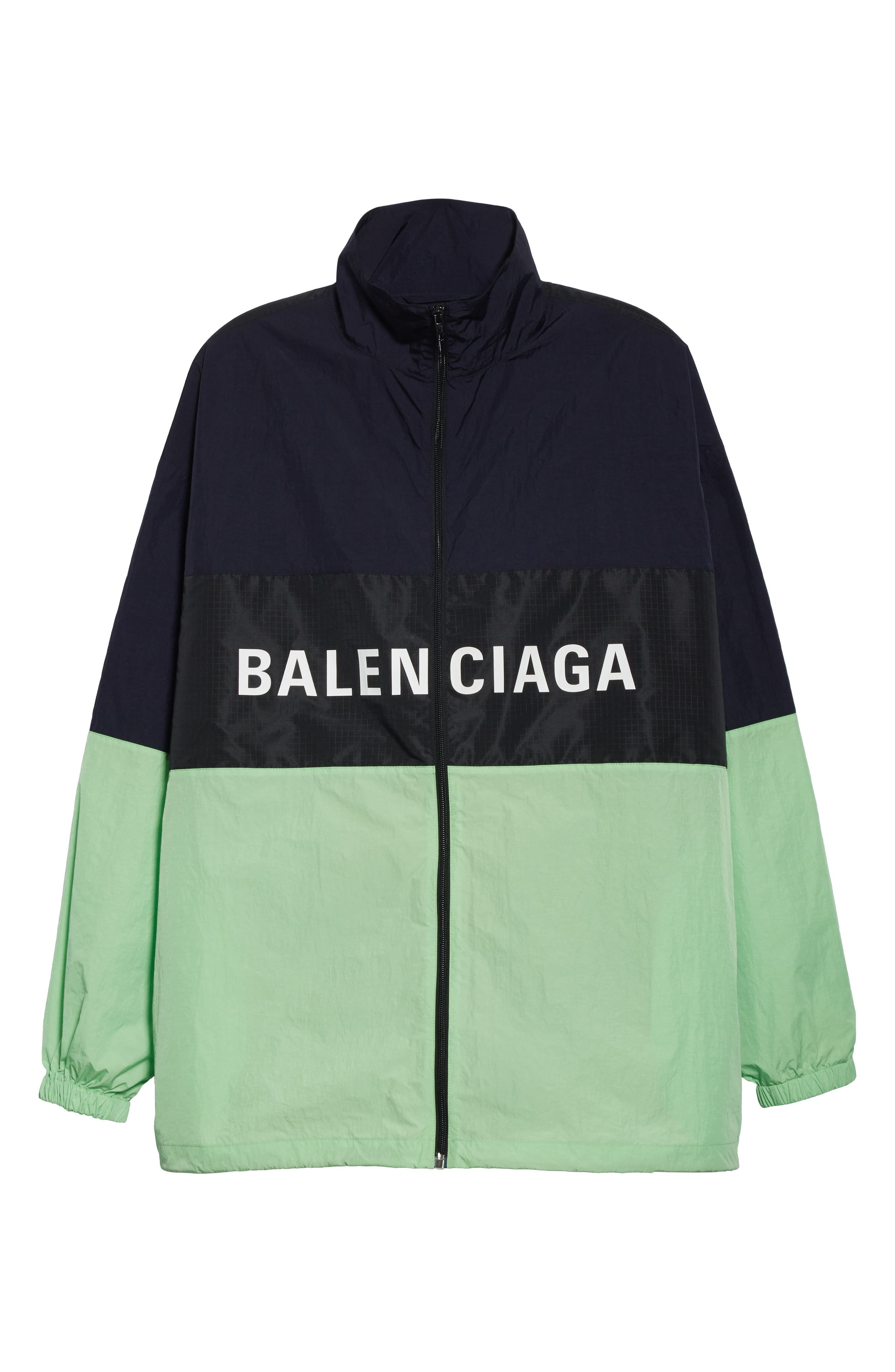,                             Logo Colorblock Windbreaker Jacket,                             Alternate thumbnail 6, color,                             FLUO GREEN
