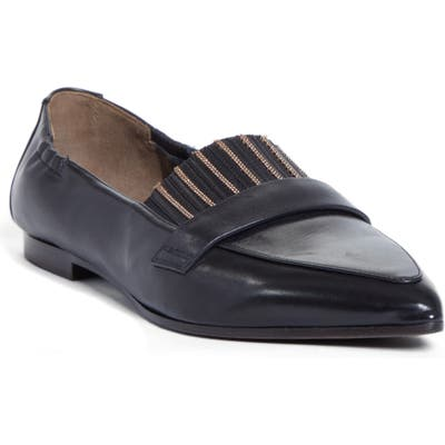 Brunello Cucinelli Pointy Toe Flat, Black