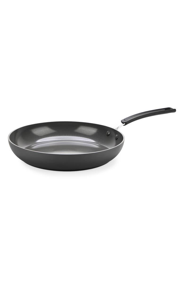 GREENPAN Levels 12-Inch Anodized Aluminum Ceramic Nonstick Fry Pan, Main, color, GREY
