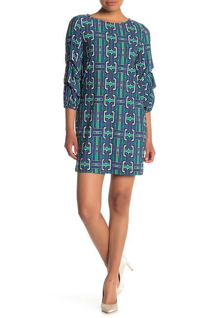 Image of TASH + SOPHIE Ruffled Sleeve Shift Dress