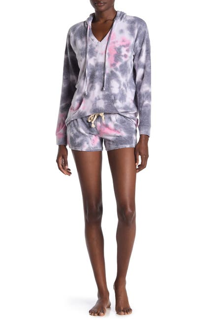 Image of Theo and Spence Tie Dye Lounge Shorts