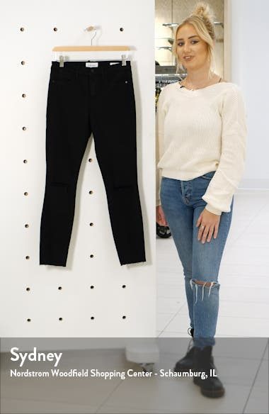 Le High Ripped Crop Skinny Jeans, sales video thumbnail