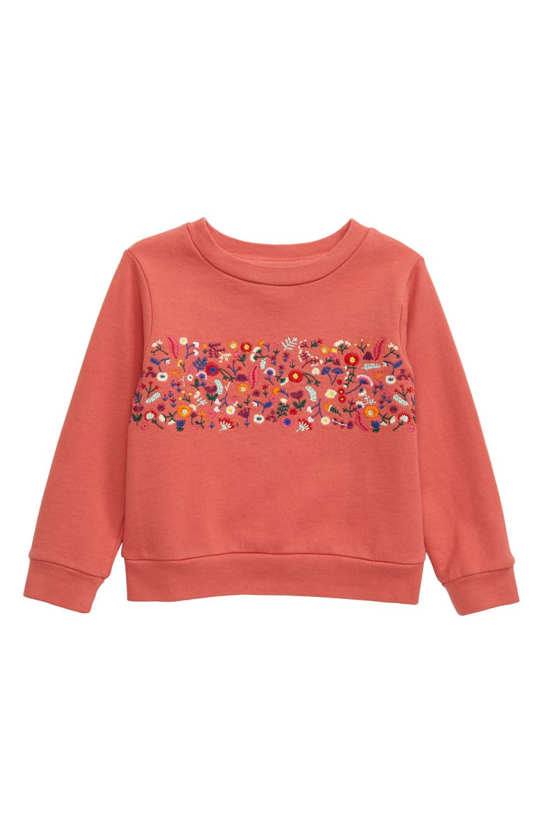 PEEK AREN'T YOU CURIOUS Sabrina Embroidered Sweatshirt, Main, color, PINK