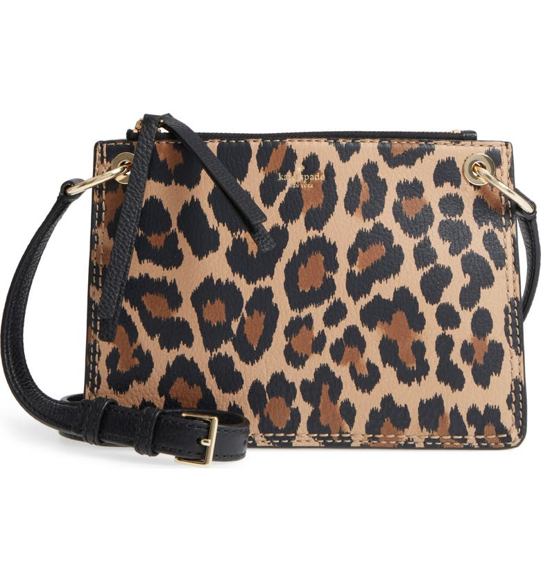 58df5807c095 kate spade new york dunne lane - leopard caro leather crossbody bag ...