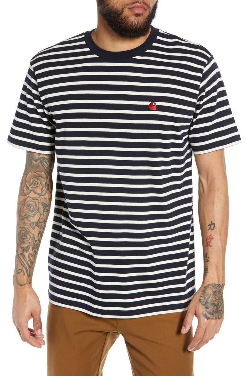 dobra obsługa wyprzedaż resztek magazynowych specjalne wyprzedaże Carhartt Work in Progress Robie Stripe Ringer T-Shirt ...