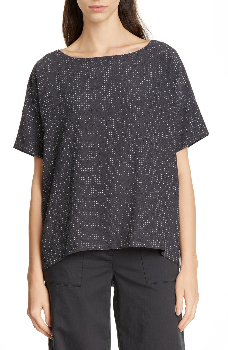 EILEEN FISHER Bateau Neck Tee, Main, color, 025