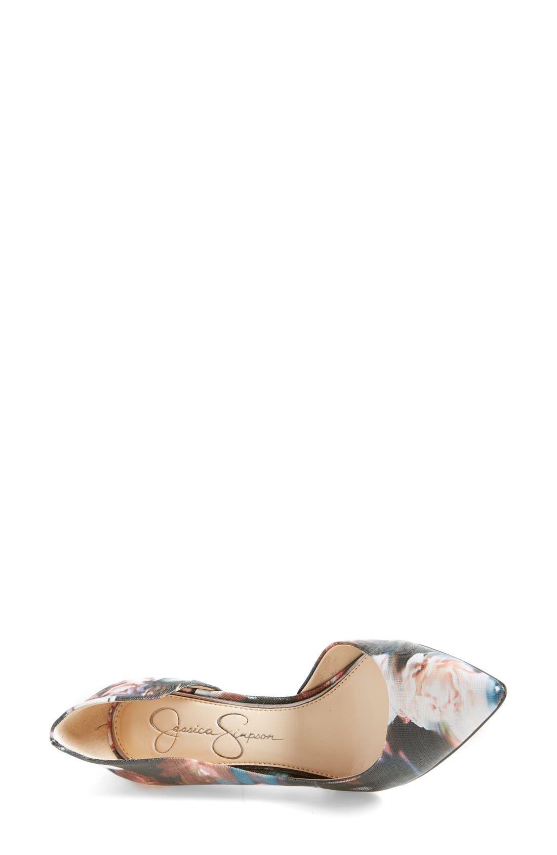 ,                             'Claudette' Half d'Orsay Pump,                             Alternate thumbnail 13, color,                             003