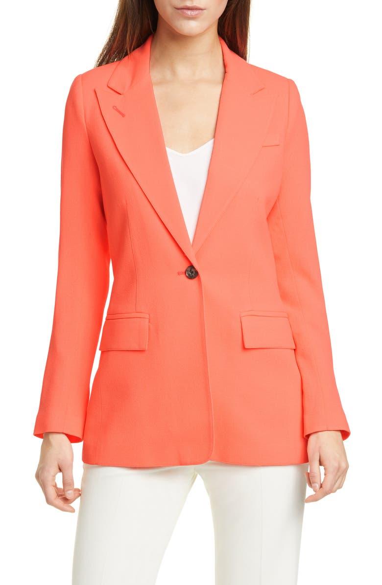 SMYTHE Wool Crepe Blazer, Main, color, 800