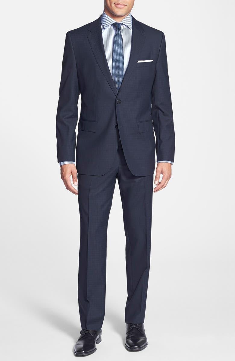 ZZDNUHUGO BOSS BOSS 'James/Sharp' Trim Fit Check Wool Suit, Main, color, 460