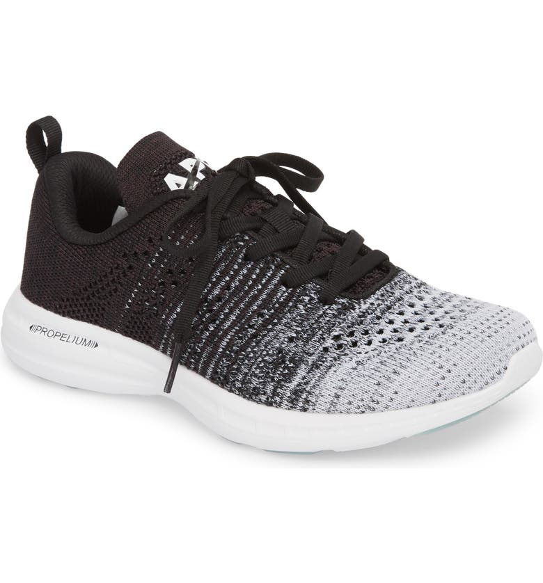 APL TechLoom Pro Knit Running Shoe, Main, color, WHITE/ HEATHER GREY/ BLACK